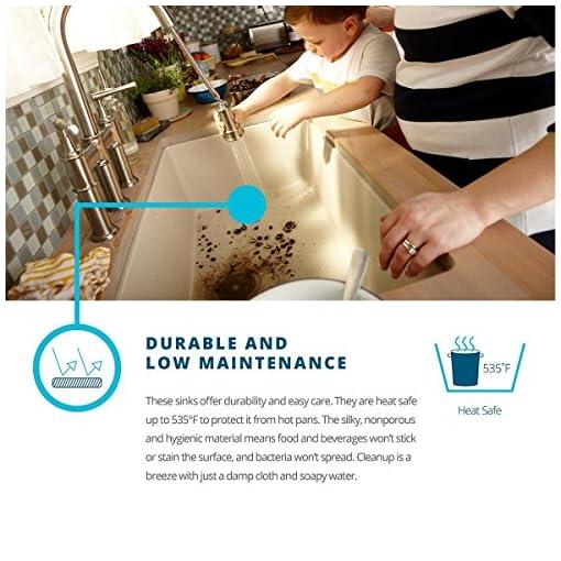 Farmhouse Kitchen Elkay Quartz Classic ELGRU13322WH0 White Single Bowl Undermount Sink farmhouse kitchen sinks