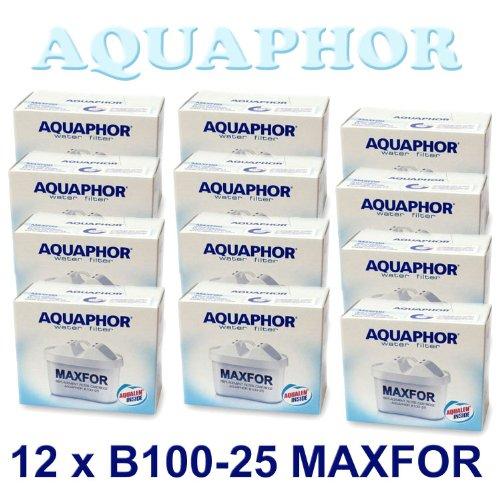 12 X AQUAPHOR WASSERFILTER B100-25 MAXFOR ERSETZT BRITA MAXTRA PEARL CO USW.