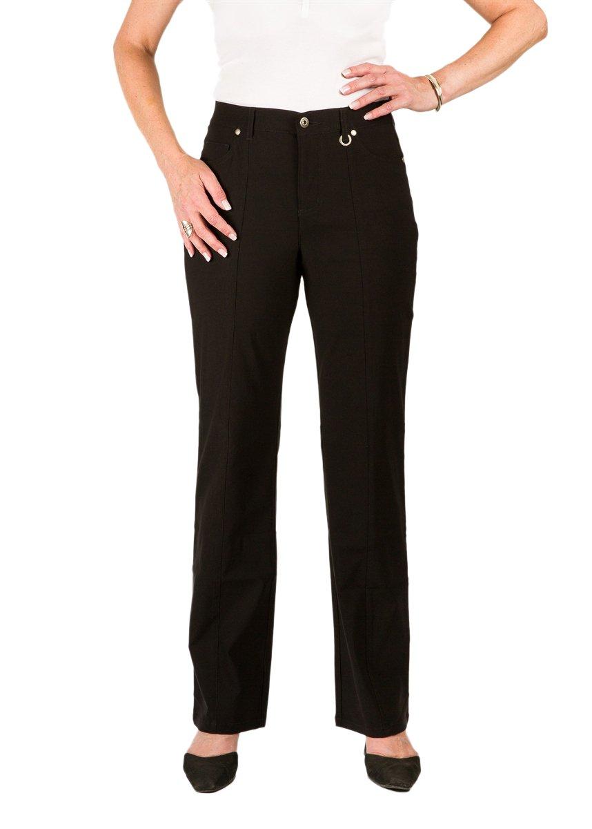 Simon Chang 5 Pocket Straight Let Microtwill Pant Style# 3-5302 (2, Black) by Simon Chang