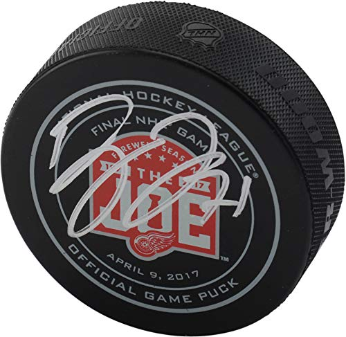 Dylan Larkin Detroit Red Wings Autographed Final Game at the Joe Official Game Puck - Fanatics Authentic Certified