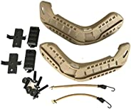 H World Shopping Airsoft Paintball Military Side Rail Set Guide Accessories for MICH Helmet
