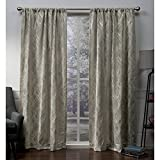 Exclusive Home Elena Wave Chenille Window Curtain Panel Pair with Rod Pocket, 52×96, Taupe, 2 Piece For Sale