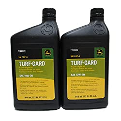 John Deere Turf-Gard SAE 10W-30 Oil TWO Quarts - T