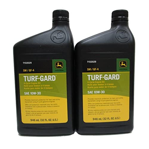 Hot John Deere Turf-Gard SAE 10W-30 Oil TWO Quarts - TY22029