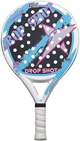 DROP SHOT Topic - Pala de pádel, Color Blanco/Azul/Negro/Rosa, 38 ...