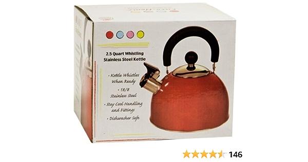 JVSISM Whistling Kettle para Gas Stove 2L Steel Whistle Tea Kettle Water Bottle Rose Gold
