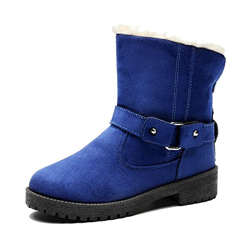 blue In In Scarpe Delle Calde Calde Scarpe Peluche Donna Cotone Casuali Da Più FFwq7x4v