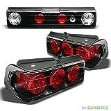 For 1988-1991 Honda CRX Black Tail Lights Rear Brake Lamp New Set L+R Pair Left+Right