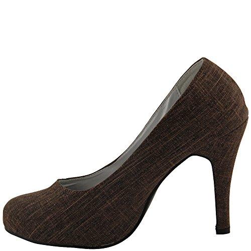 Rasalle Paris - Zapatos de vestir de Lona para mujer Multicolor multicolor Multicolor - marrón