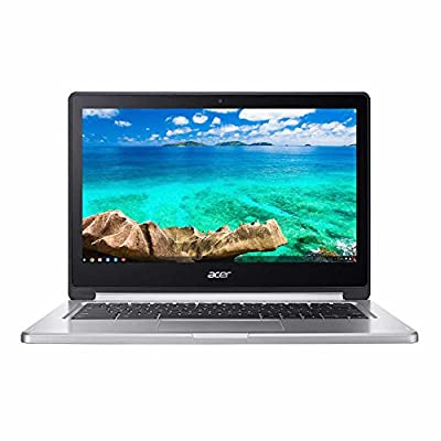 "Newest Flagship Acer R13 13.3"" Convertible 2-in-1 Full HD IPS Touchscreen Chromebook - Intel Quad-Core MediaTek MT8173C 2.1GHz, 4GB RAM, 32GB SSD, WLAN, Bluetooth, Webcam, HDMI, USB 3.0, Chrome OS"