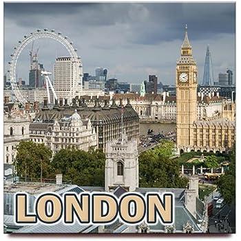 London square fridge magnet United Kingdom England travel souvenir