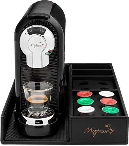 Coffee Caddy - For Espresso Machines and Capsules by Mixpresso (Black)
