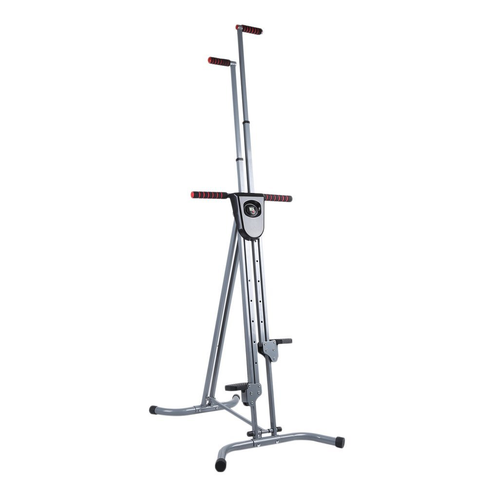 Homgrace Foldable Vertical Climber Cardio Exercise Full Body Fitness Workout for Home GYM (Dark Grey)