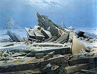 The Sea of Ice by Caspar David Friedrich. 100% Hand Painted. Oil On Canvas. Reproduction. (Unframed and Unstretched).