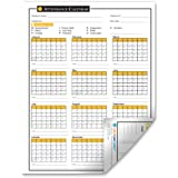 2016 Attendance Calendar - 50 Sheets/Package - On High Quality Cardstock Paper
