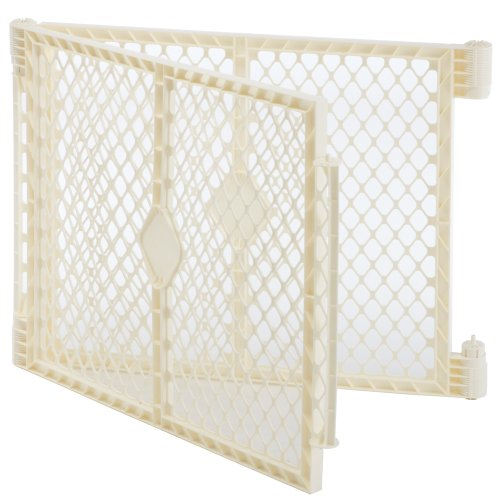 North States Superyard Ultimate Playard 2 Panel Extension, Ivory (Gate Yard Extension Play)