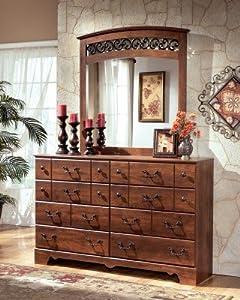 Amazon.com: Timberline Large Bedroom Dresser Wooden Rustic Style ...