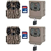 Stealth Cam Z36 No Glo 60 10MP Game Camera, 2 Pack w/ Security Boxes & SD Cards