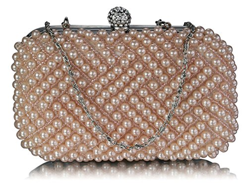 Purses Clutch Evening Nice Champagne Beaded 209 Out Faux Bag Great Leahward 283 Pearl Night Bags Wedding Bridal Prom UF7xqCI