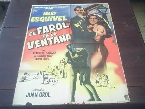 Original Mexican Movie Poster El Farol De La Ventana Mary Esquivel Juan Orol 1958
