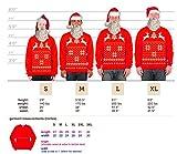 Skip N Whistle Adult Ugly Christmas Sweater Reindeer In Snow Pullover Sweatshirt