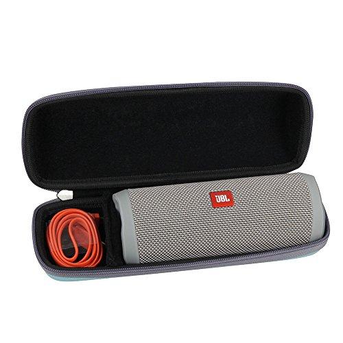 Hard EVA Travel Teal Case for JBL Flip 4 Splashproof Portable Bluetooth Speaker by Hermitshell by Hermitshell