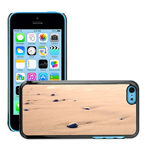 Stampato Modelli Hard plastica Custodie indietro Case Cover pelle protettiva Per // M00421731 Pebbles Sand Beach forme arrondie // Apple iPhone 5C