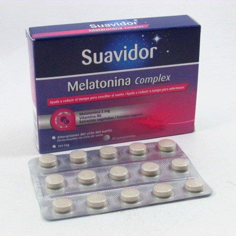 SUAVIDOR MELATONINA COMPLEX 1 MG 30 COMP: Amazon.es: Salud y cuidado ...