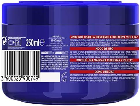 LOreal Paris Elvive Color Vive Mascarilla Intensiva Violeta Matizadora, Para Pelo con Bases Oscuras, Mechas o Decolorado, 250 ml