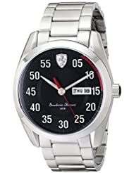Ferrari Mens 0830180 D 50 Analog Display Quartz Silver Watch