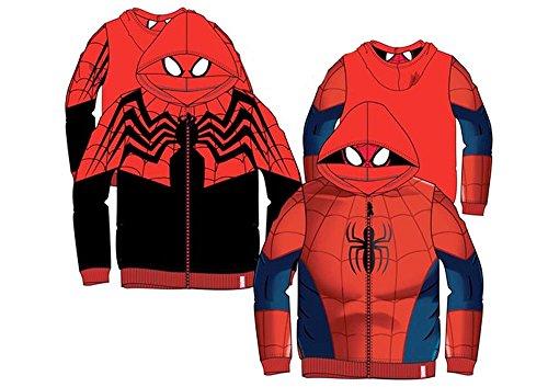 più economico 44541 93d5d Marvel Spider-Man - Felpa con Zip e Cappuccio con Maschera ...