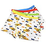 2-5 Years Old Boys Cotton Cars Boxer Briefs Underwear For Toddler 4 Pack