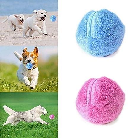 Mcgradyxm - Pelota de Juguete Eléctrico para Mascotas, Bolas para Perros, Juguete de Pelota para Gatos, Limpiador Eléctrico de Microfibra, Paquete de 4: ...