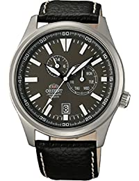 Orient #ET0N002K Men's Defender Leather Strap Multi Function Automattic Watch