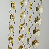 #10: 46 in. Crystal Garland Champagne (4/pack)