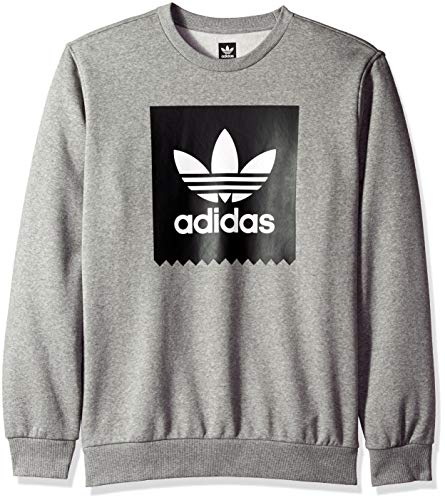 adidas Originals Men's Blackbird Crewneck Sweatshirt, Heather/Black/White, ()