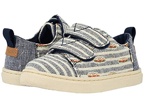 TOMS Kids Baby Boy's Lenny (Toddler/Little Kid) Navy Small Cabana Stripes/Cubano Print 10 M US Toddler