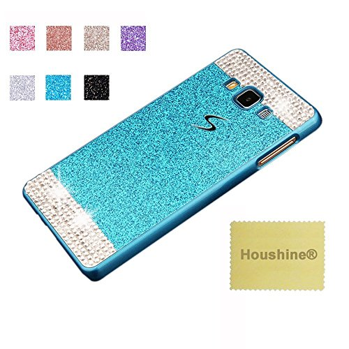 On5 Glitter PC Case, Houshine Handmade Bling Crystal Rhinestone Hard Plastic Glitter Cover Case For Samsung Galaxy On5, Blue with Bling