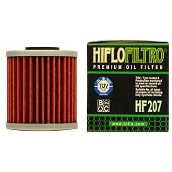 HiFlo filtro de aceite HF 207 Rojo: Amazon.es: Coche y moto