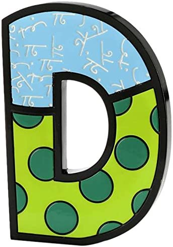 Gift Craft Romero Britto Polyresin Table Topper, Letter D