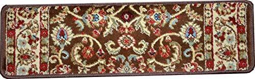 Dean Premium Carpet Stair Treads - Classic Keshan Chocolate Brown 31