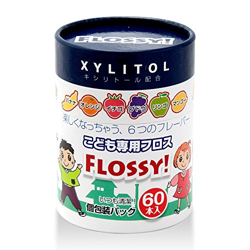 Flossy Floss for Kids 60 Count by Flossy