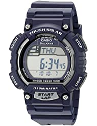 Casio Mens STL-S100H-2A2VCF Tough Solar Stainless Steel Watch With Blue Resin Band