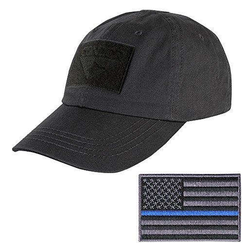 Condor Tactical Cap with Thin Blue Line Morale Patch Bundle