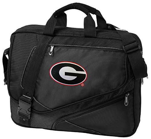 Large University of Georgia Laptop Bag OUR BEST Georgia Bulldogs Computer Bag by Broad Bay