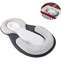 Newborn Lounger Pillow Bassinet,Ultra-soft Breathable Baby Snuggle Nest,U- Nursing Pillow Cribs - Anti-Rollover and Flat Head Prevention | Portable Removable Bionic Mattresses for Infants Toddler