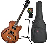 Ibanez AF55TF Tobacco Flat Hollow Body Electric Guitar w/ Gig Bag, Stand, and Tuner
