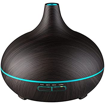 VicTsing 300ml Essential Oil Diffuser, Wood Grain Ultrasonic Aroma Cool Mist Humidifier for Office Home Bedroom Baby Room Study Yoga Spa