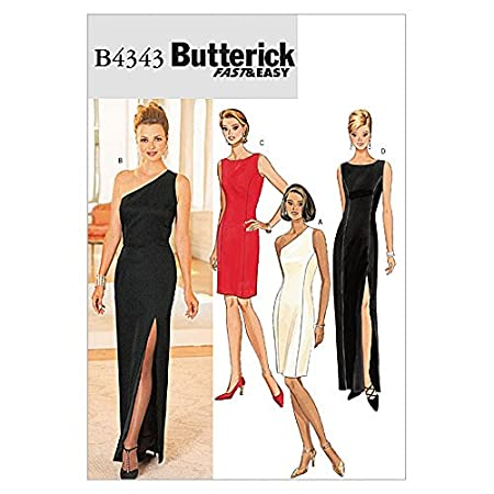 Butterick Ladies Sewing Pattern 4343 - Evening Dresses Sizes: 14-18 ...