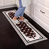 GHGMM Kitchen, Strip, Kitchen Mat, European Style Household Water Absorption, Oilproof Mat Anti-Slip Mat, Custom Made, Machine Washable,4060Cm+40120Cm